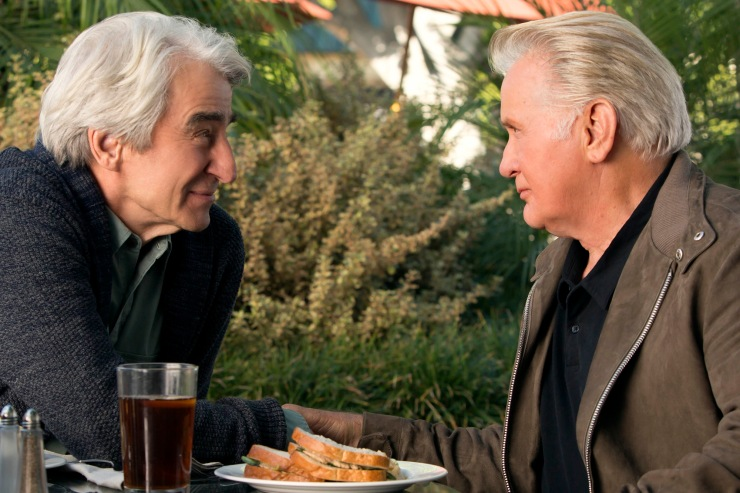 "TV STILL -- DO NOT PURGE -- Sam Waterston and Martin Sheen in the Netflix Original Series ""Grace and Frankie"". Photo by Melissa Moseley for Netflix.Ü"